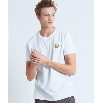 ABAHOUSE/アバハウス 【BRICKTOWN】ワンポイントTシャツ(BANANAS) ホワイト 2