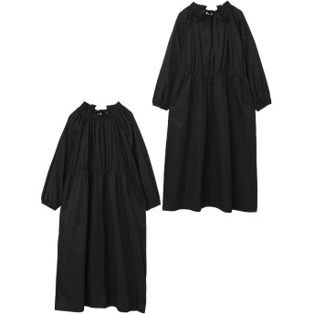 GATHERED RUFFLE DRESS