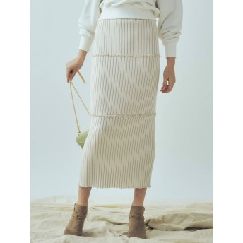 [MERCURYDUO]リブメロータイトスカート