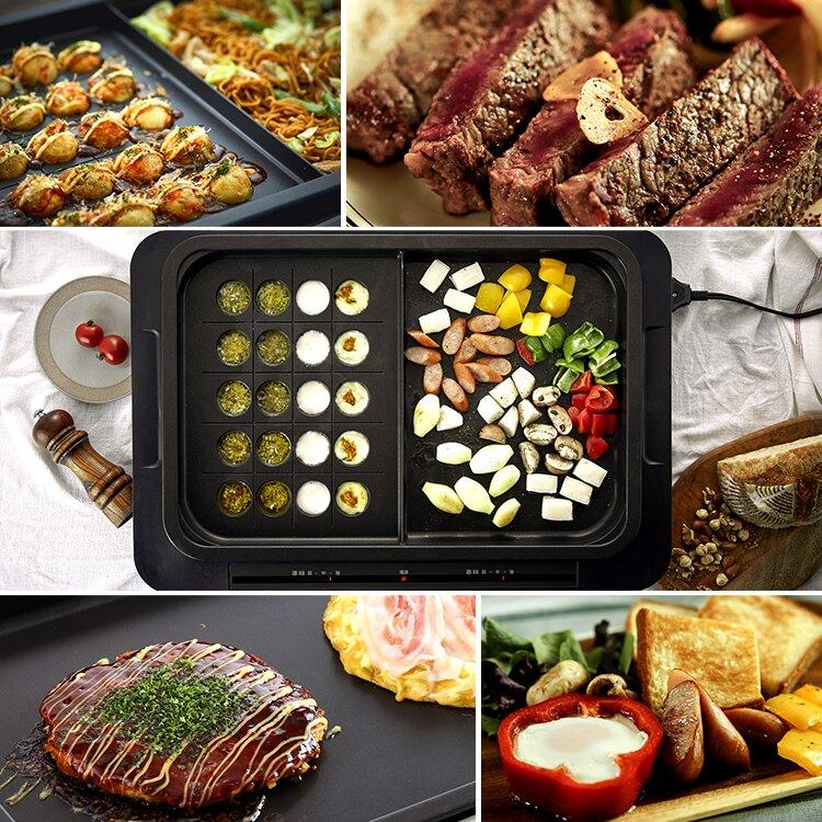 日本 IRIS OHYAMA / 多功能電烤盤 左右獨立控溫 ( 附平盤+分隔盤 ) / WHP-012。日本必買(12800)|件件含運|日本樂天熱銷Top|日本空運直送|日本樂天代購