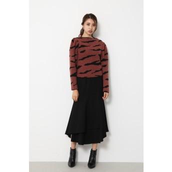 Zebra Pattern Knit TOP