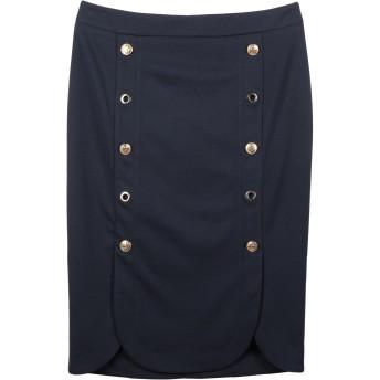 《セール開催中》ELISA FANTI レディース ひざ丈スカート ダークブルー 42 ポリエステル 93% / ポリウレタン 7%