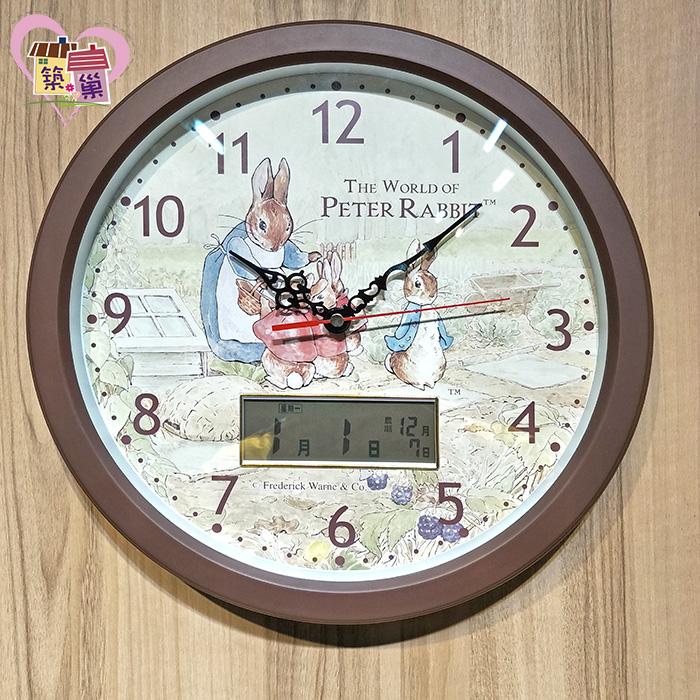 《正版授權》彼得兔媽媽LCD雙顯示超靜音時鐘 【Peter Rabbit 彼得兔】