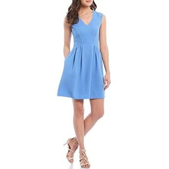 ヴィンスカムート トップス ワンピース V-Neck Sleeveless Crepe Dress Periwinkle レディース [並行輸入品]