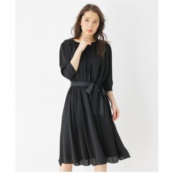 ギャザードレープドレス