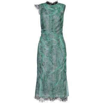 《セール開催中》ERMANNO SCERVINO レディース 7分丈ワンピース・ドレス グリーン 40 シルク 100% / ナイロン