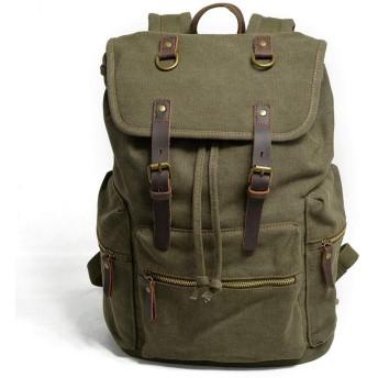 キャンバスバックパックレトロバックパック学生メンズバッグファッションカジュアル登山バッグトラベルバッグ