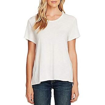 ヴィンスカムート トップス Tシャツ Short Sleeve Cotton Blend Tee Pearl Ivor レディース [並行輸入品]