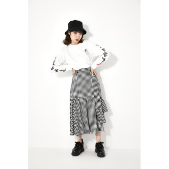 GINGHAM CHECK GATHER SK