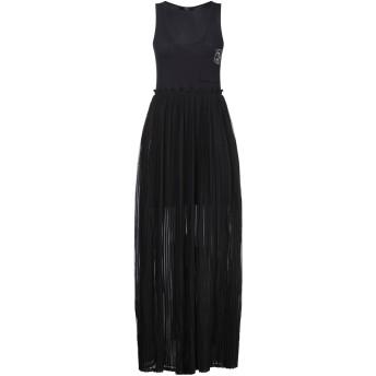 《セール開催中》DIESEL レディース ロングワンピース&ドレス ブラック XS ポリエステル 100% / コットン / ポリウレタン