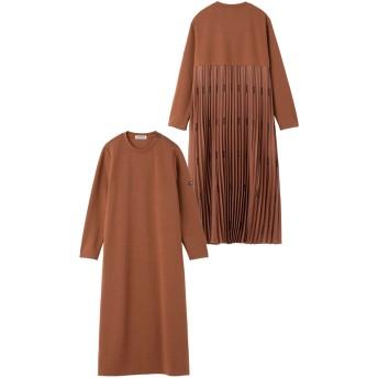 LOGO PLEATED DRESS