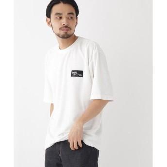 BASE STATION / ベースステーション 二段 ロゴ 刺繍 パイル地 半袖 Tシャツ
