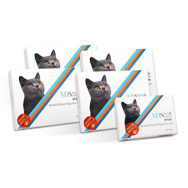 木入森 「貓奴超值包」貓咪排毛粉《4盒超值裝包+1盒精裝包》