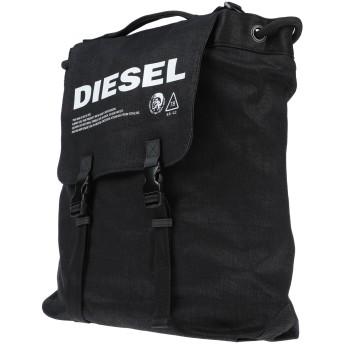 《セール開催中》DIESEL メンズ バックパック&ヒップバッグ ブラック コットン 100% / 合金亜鉛 / 銅