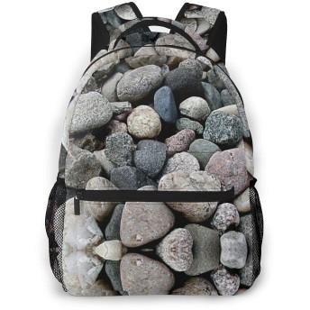 石 学校/スポーツバックパック、カジュアルなユニセックススタイルの大学の学校のバッグ/ラップトップバッグ男性用女性。