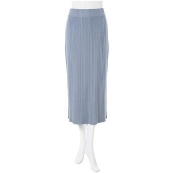 ランダムプリーツニットタイトスカート
