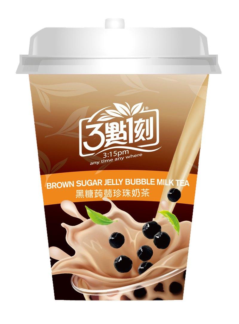 【3點1刻】黑糖蒟蒻珍珠奶茶杯 80g/杯
