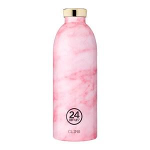 義大利 24Bottles 不鏽鋼雙層保溫瓶850ml - 粉紅大理石
