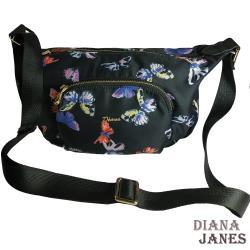 包【Diana Janes 黛安娜】輕量斜紋配皮斜揹包