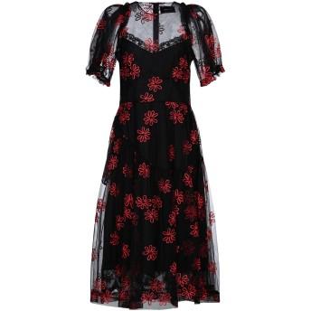 《セール開催中》SIMONE ROCHA レディース 7分丈ワンピース・ドレス ブラック 10 ポリエステル 100%