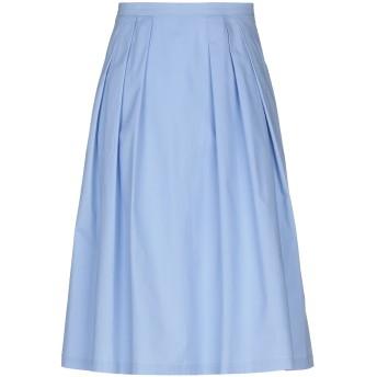 《セール開催中》GIORGIO GRATI レディース ひざ丈スカート スカイブルー 40 コットン 96% / ポリウレタン 4%