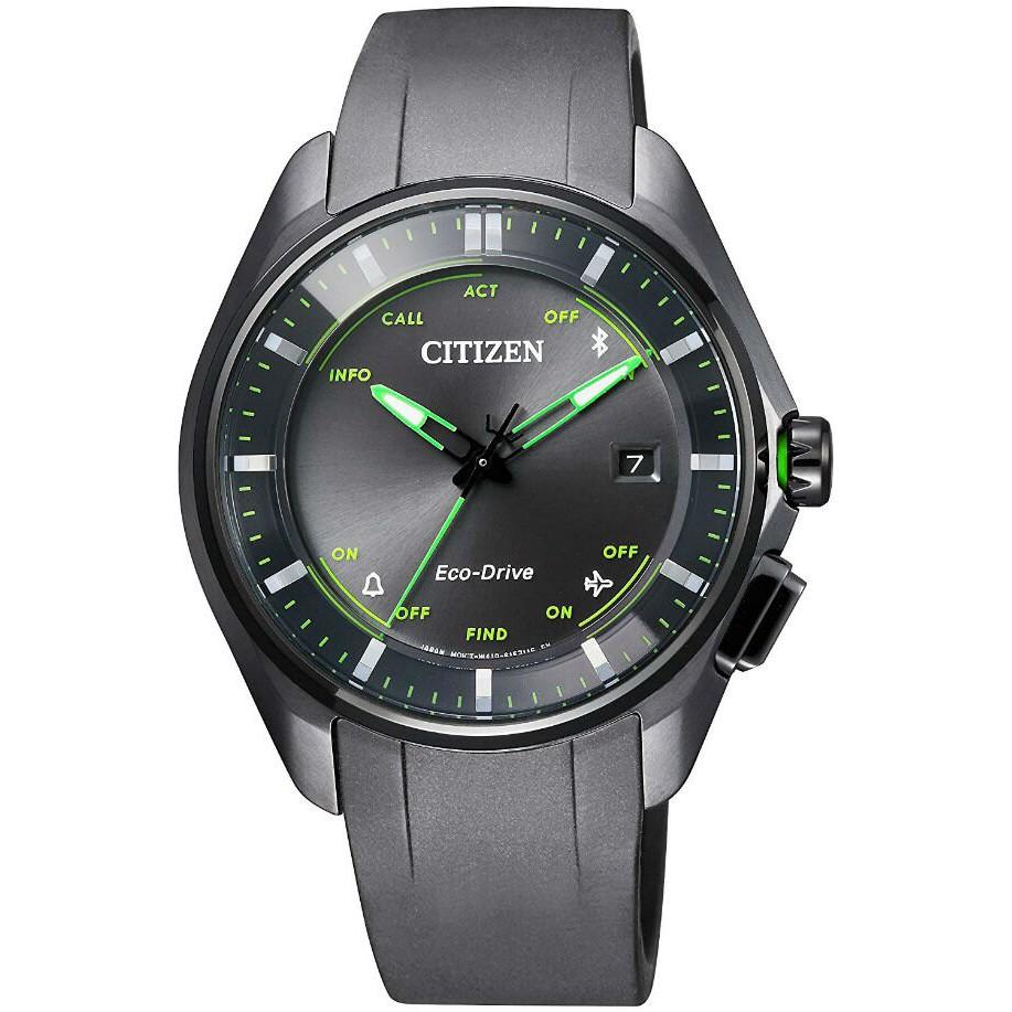 CITIZEN 星辰 BZ4005-03E 限量/光動能藍芽鈦金屬腕錶 /黑x綠 40mm