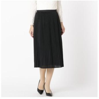 Liliane Burty ECLAT/リリアンビューティ エクラ 上品にきらめくプリーツスカート ブラック S