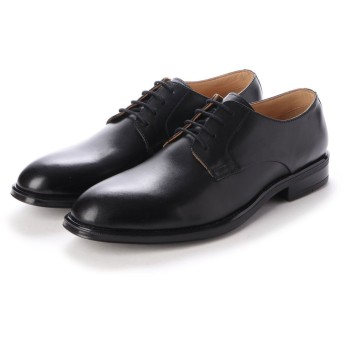 ジョーマリノ JO MARINO メンズ ビジネスシューズ 牛革100% 紳士靴 プレーントウ ドレスシューズ 防滑 (ブラック)
