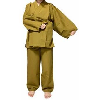 『キャッシュレスP5%還元』(ADOSSY) 作務衣 作業着 レディース 綿100% 部屋着 カジュアル 寝間着 和風 シンプル 和装 ユニフォーム ゆっ