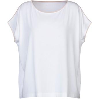《セール開催中》ARCHIVIO B レディース T シャツ ホワイト S レーヨン 96% / ポリウレタン 4% / シルク