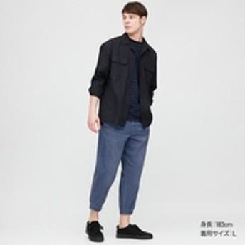 EZYスリムフィットジョガーパンツ(デニム・丈短め64cm)
