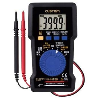 CUSTOM (カスタム) デジタルマルチメータ 背面磁石・バックライトつき M-09FBM