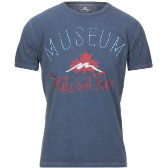 《セール開催中》MUSEUM メンズ T シャツ ダークブルー M コットン 100%