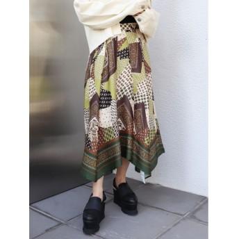 【25%OFF】 ムルーア スカーフフラワースカート レディース グリーン F 【MURUA】 【セール開催中】