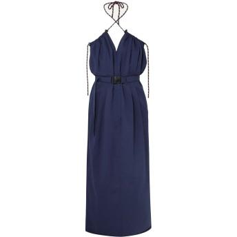 《セール開催中》DRIES VAN NOTEN レディース 7分丈ワンピース・ドレス ブルー 44 コットン 70% / 指定外繊維(紙) 30%