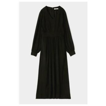 マウジー moussy PIN TUCK FLARE DRESS (ブラック)