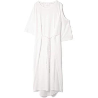 OPEN SHOULDER DRESS ホワイト