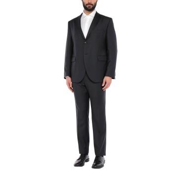 《セール開催中》LUBIAM メンズ スーツ ブラック 58 バージンウール 100%