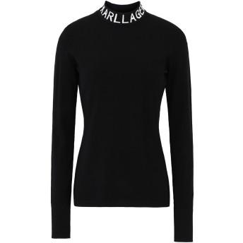 《セール開催中》KARL LAGERFELD レディース タートルネック ブラック XS レーヨン 79% / ポリエステル 16% / コットン 3% / ナイロン 2% Logo Turtleneck Sweater