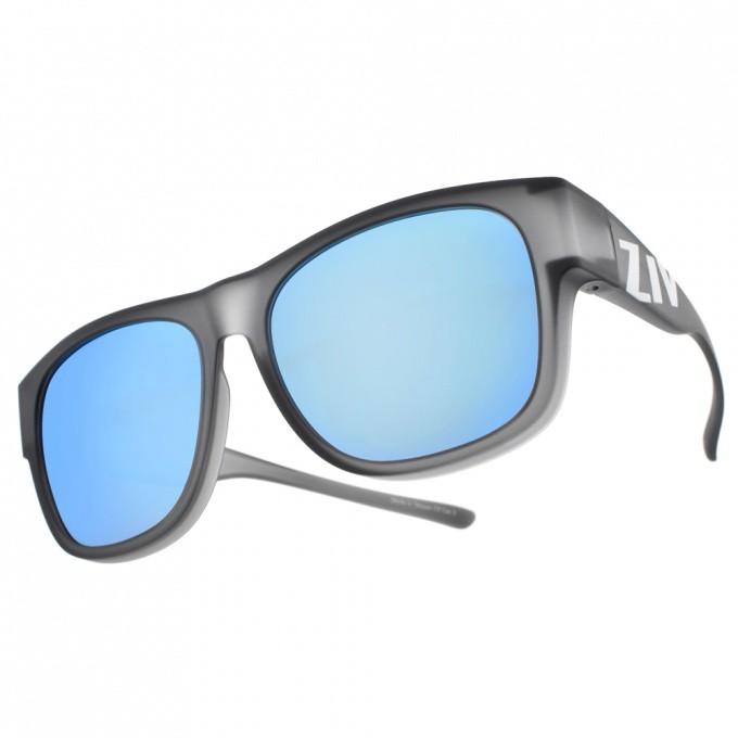 ZIV 運動太陽眼鏡 S103 040 (霧透灰-藍水銀棕) 眼鏡可配戴 外掛式偏光水銀太陽眼鏡