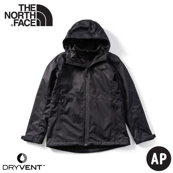 【The North Face 男 二件式DryVent刷毛外套《黑》】4NCL/透氣防風耐磨/夾克/風雨衣