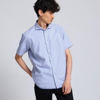 タケオ キクチ TAKEO KIKUCHI ハケメギンガムチェックシャツ (ブルー)