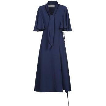 《セール開催中》VALENTINO レディース 7分丈ワンピース・ドレス ブルー 42 シルク 100%