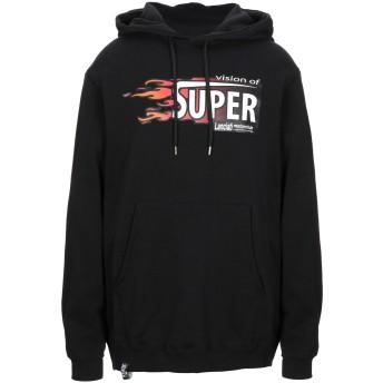 《セール開催中》VISION OF SUPER メンズ スウェットシャツ ブラック XL コットン 100%