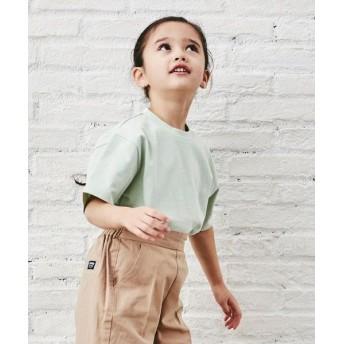green label relaxing/グリーンレーベル リラクシング 〔WEB限定〕コットン天竺オーバーサイズTシャツ LIME 115