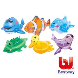 (任選)《艾可兒I.CARE》Bestway。12吋動物造型充氣戲水玩具★隨機出貨