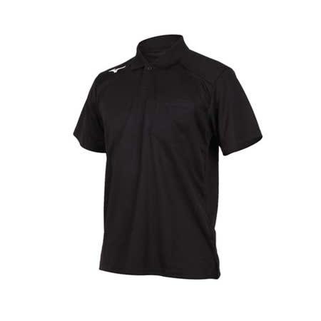 (男) MIZUNO 短袖POLO衫-短袖上衣 高爾夫 網球 美津濃 黑白