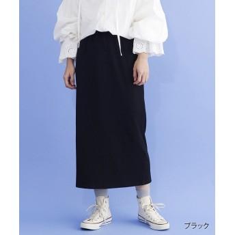 メルロー ワイドリブナロースカート レディース ブラック FREE 【merlot】