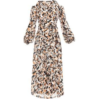 《セール開催中》DIANE VON FURSTENBERG レディース 7分丈ワンピース・ドレス キャメル 4 シルク 100%