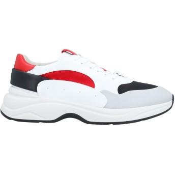 《セール開催中》SANTONI メンズ スニーカー&テニスシューズ(ローカット) ライトグレー 9 革 / 紡績繊維